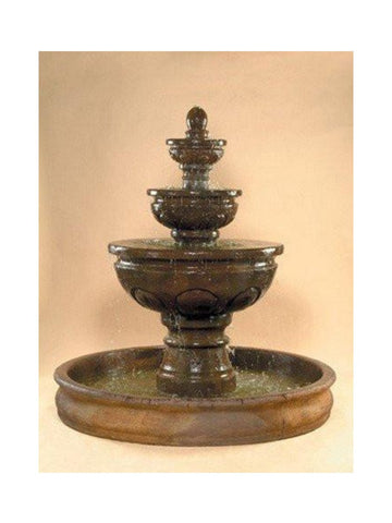 Baroque Outdoor Water Fountain with 74 inch Basin - Outdoor Art Pros