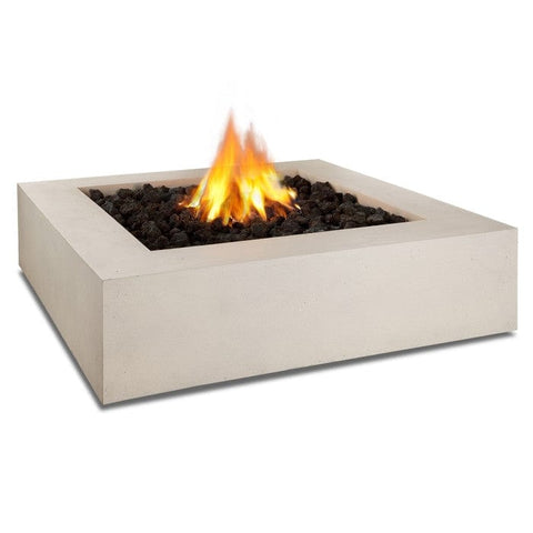 Mezzo Square Fire Table - Antique White