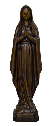 Brass Baron Mary Praying Garden Statue - Brass Baron - Outdoor Art Pros