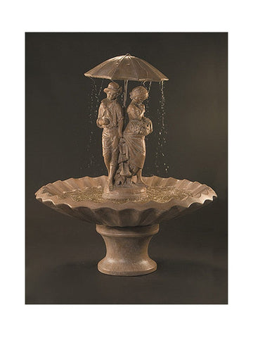 Springtime Cast Stone Outdoor Fountain - Outdoor Art Pros