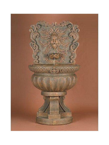 Green Man Outdoor Wall Fountain - Outdoor Art Pros