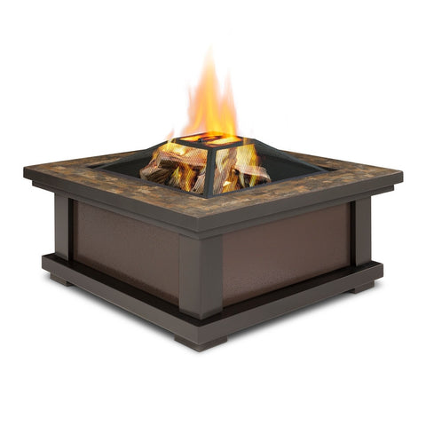 Alderwood Wood Burning Fire Pit - Outdoor Art Pros