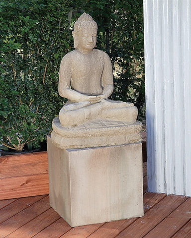 Sitting Buddha Garden Statue - Outdoor Art Pros