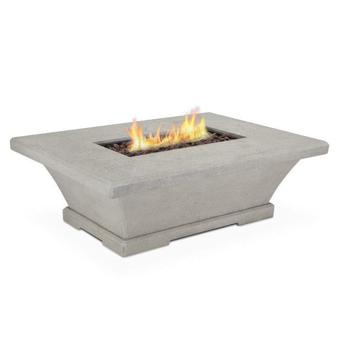 Real Flame Monaco Low Rectangle Propane Fire Table - Cream