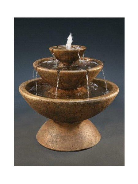 3 Tier Color Bowl With Lips Small Water Fountain
