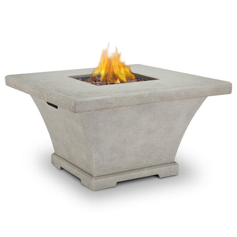 Real Flame Monaco Square Propane Fire Table - Cream