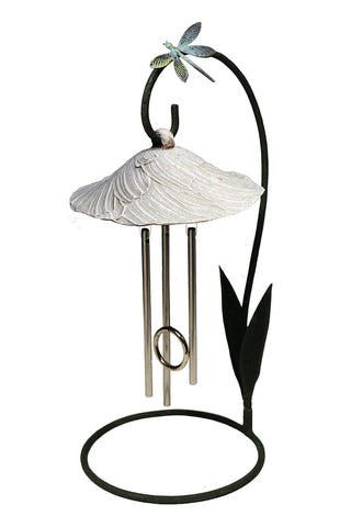 Stone Bella Blossom Solar Chime Décor - Outdoor Art Pros