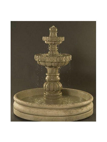 Margarita Garden Water Fountain With 46 Inch Basin - Outdoor Art Pros