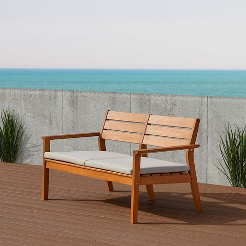 Hale Two Seat Bench by Real Flame - Outdoor Art Pros