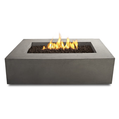 Baltic Rectangle Natural Gas Table - Glacier Gray Finish - Outdoor Art Pros