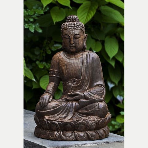 Antique Lotus Buddha - Outdoor Art Pros