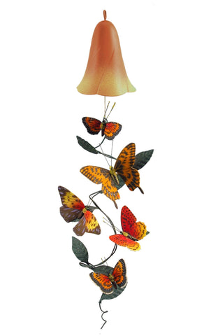 Flower Top Butterfly Solar Mobile Décor - Outdoor Art Pros