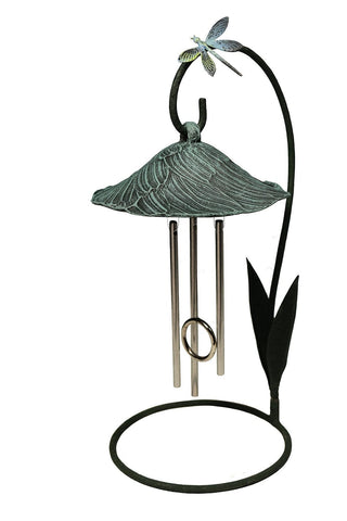 Verdigris Bella Blossom Solar Chime Décor - Outdoor Art Pros