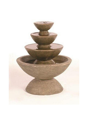 4-Tier Color Bowl Small Garden Water Fountain - Outdoor Art Pros