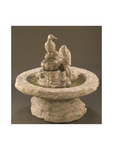 Duck Cast Stone Garden Fountain - Small - Outdoor Art Pros
