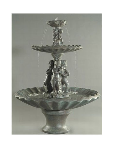 3 Water Nymphs Outdoor Water Fountain - Outdoor Art Pros