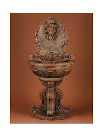 Classic Lion Wall Water Fountain - Outdoor Art Pros