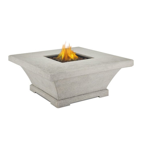 Real Flame Monaco Low Square Propane Fire Table - Cream