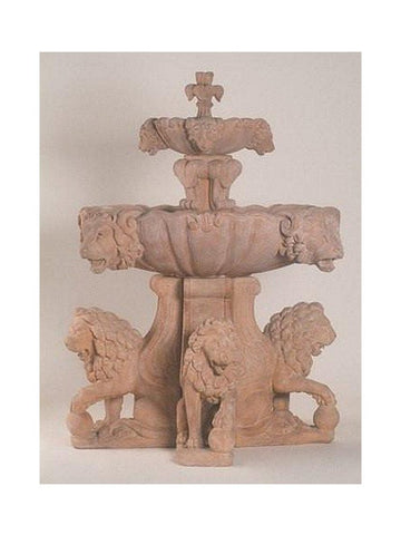 Lion Outdoor Water Fountain For Pond - Large - Outdoor Art Pros