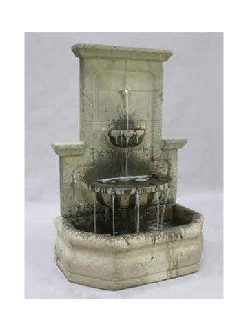 Augustine Outdoor Wall Water Fountain -  Outdoor Art Pros