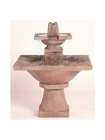 2 -Tier Quadrate Garden Water Fountain - Outdoor Art Pros