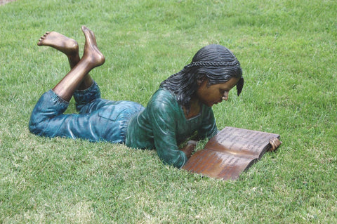Brass Baron Dorothy Bronze Outdoor Sculpture - Brass Baron - Outdoor Art Pros