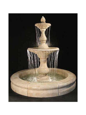 Gran Vista Outdoor Fountain with Fiore Pond - Outdoor Art Pros
