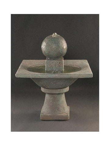 Garden Sphere Cast Stone Fountain - Outdoor Art Pros