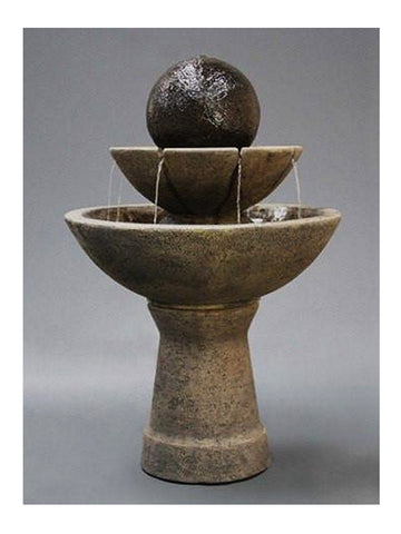 2 - Tier Zen Garden Water Fountain - Tall - Outdoor Art Pros