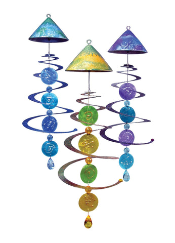 Capiz Mobile Solar Chime Décor - Outdoor Art Pros