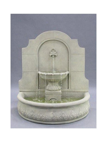 Provincial Cast Stone Wall Outdoor Fountain - Outdoor Art Pros