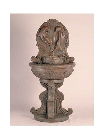 Classic Dolphin Wall Outdoor Fountain - Outdoor Art Pros