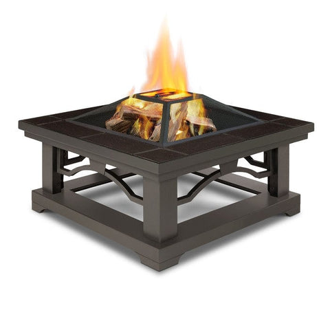 Crestone Wood Burning Fire Pit - Brown Tile - Outdoor Art Pros