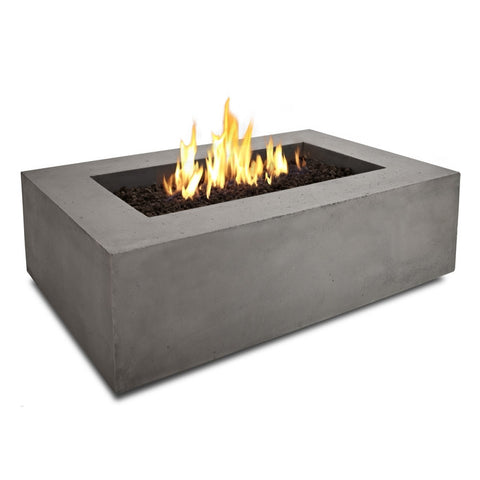 Baltic Rectangle Propane Fire Table - Glacier Gray Finish - Outdoor Art Pros