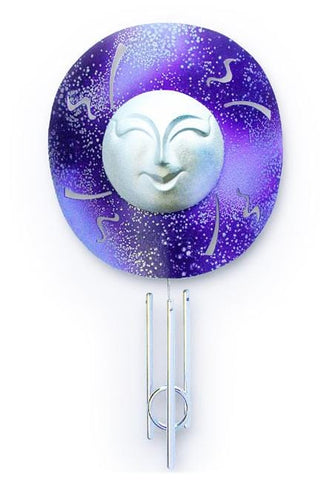 Blue Moon Solar Chime Décor - Outdoor Art Pros