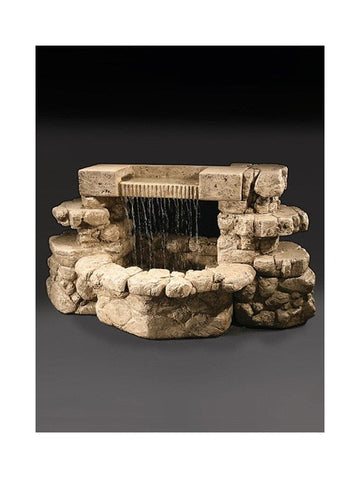 Rainbow Falls Cast Stone Outdoor Fountain - Outdoor Art Pros