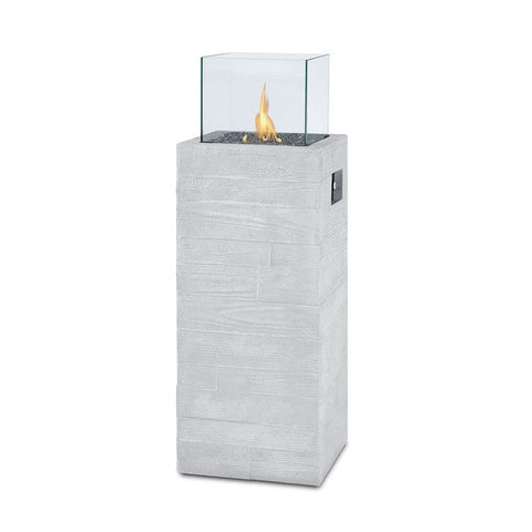 Board Form Column LP Fireplace - Outdoor Art Pros