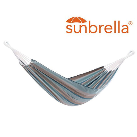 Gateway Mist Brazilian Sunbrella Double Hammock - Outdoor Art Pros