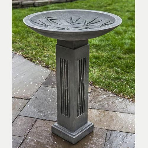 Sagano Cast Stone Birdbath - Outdoor Art Pros