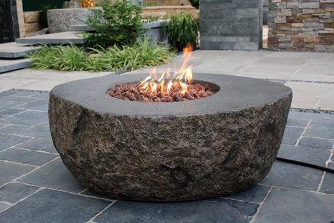 Boulder Fire Table - Outdoor Art Pros