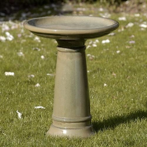 Dijon Glazed Birdbath - Outdoor Art Pros