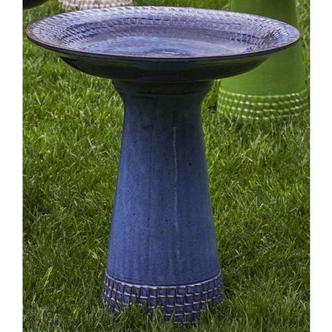 French Blue Tattersall Birdbath - Outdoor Art Pros