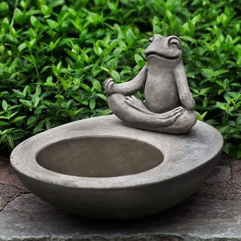 Zen Element Cast Stone Birdbath - Outdoor Art Pros