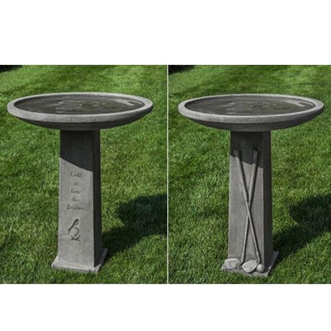 Golf is Fore the Birdies Cast Stone Birdbath - Outdoor Art Pros