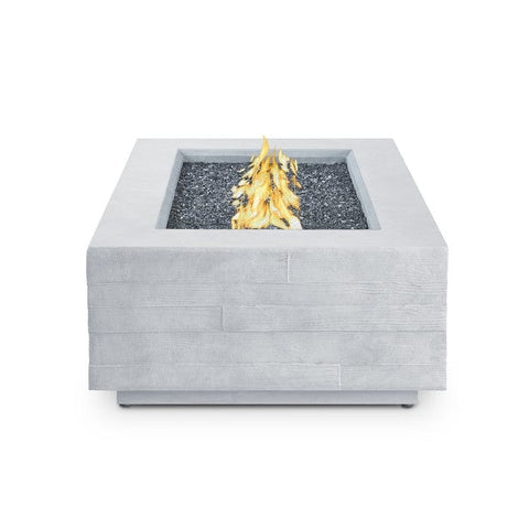 Board Form Rectangle Propane Fire Table - Outdoor Art Pros