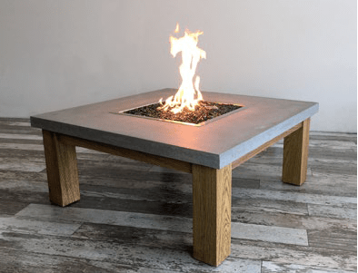 Amish Concrete Fire Table - Outdoor Art Pros