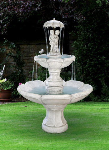 April Showers Tiered Garden Fountain - Outdoor Art Pros