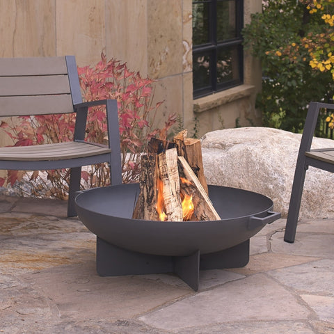 Anson Fire Bowl - Black Finish - Outdoor Art Pros
