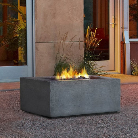 Baltic Square Natural Gas Table - Glacier Gray Finish - Outdoor Art Pros