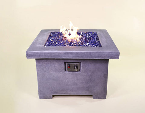 Fuoco Square Fire Table with Natural Gas Burner & Electronic Ignition